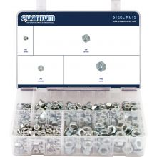 ASSORTED BOX OF STEEL NUTS (BOX OF 280 PIECES)