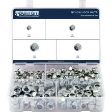 ASSORTED BOX NYLON LOCK NUTS (BOX OF 300 PIECES)