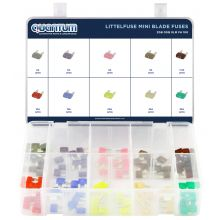 ASSORTED LITTELFUSE MINI® BLADE FUSES (100)