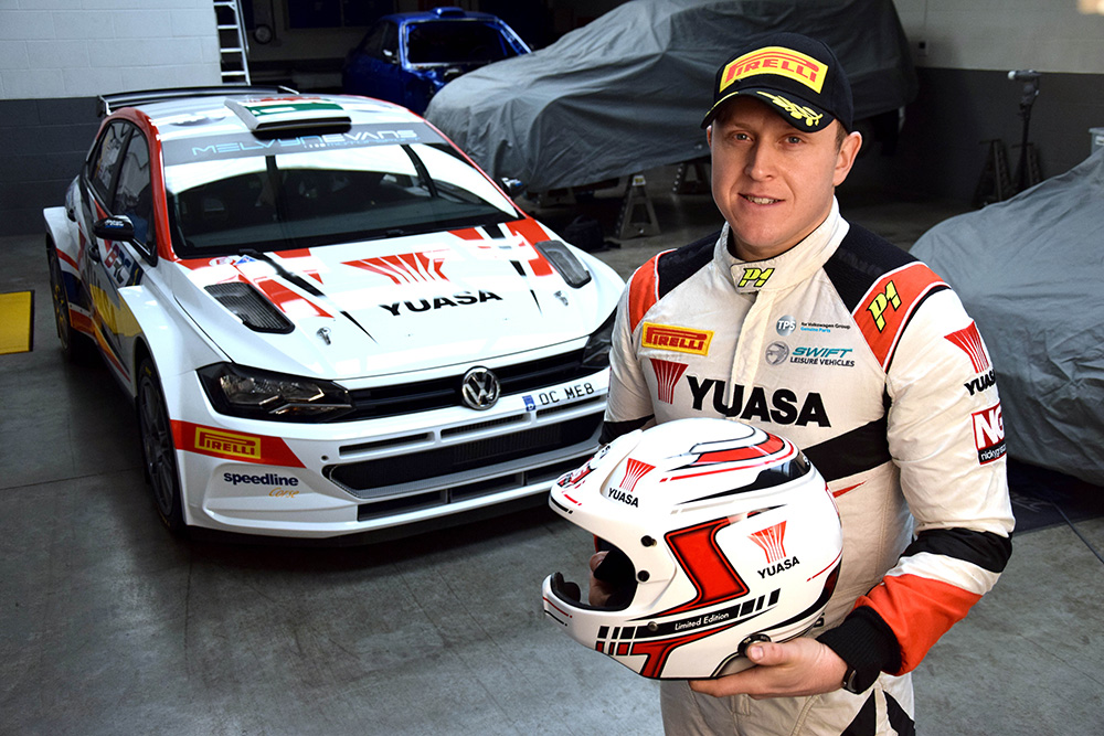 Yuasa Rally livery for Matt Edwards E-sports Championship in DiRT 2.0